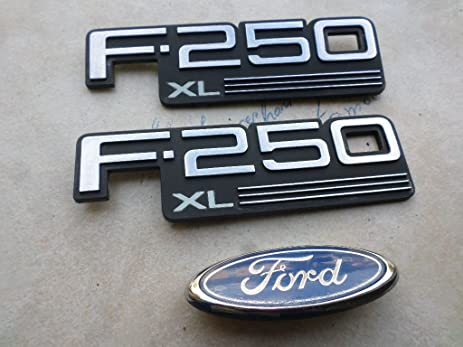 Amazon 92 96 ford f 250 xl front grille logo e97b 8c020 aa side 92 96 ford f 250 xl front grille logo e97b 8c020 aa voltagebd Gallery