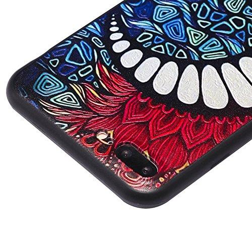 Coque iPhone 7 Plus 3D Dents de lune Premium Gel TPU Souple Silicone Protection Housse Arrière Étui Pour Apple iPhone 7 Plus + Deux cadeau
