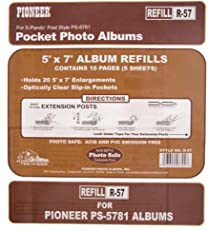 Genuine Pioneer double 5x7 refill page for your pocket album
