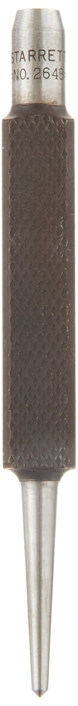Starrett 264B Center Punch With Square Shank, 3-1/2'' Length, 5/64'' Tapered Point Diameter, 3/8'' Square Thickness
