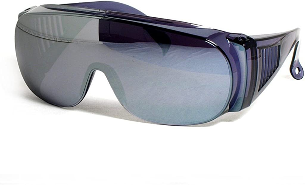Large Fit Over Sunglasses Silver Mirror Lens UV Protection By CSC
