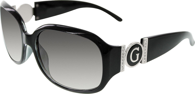 Amazon.com: Guess guf7005-blk-35 cuadrado negro de la mujer ...