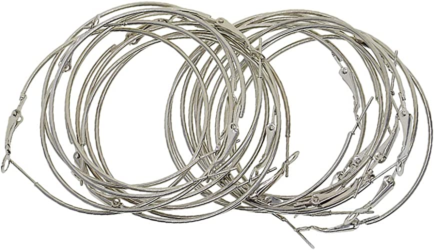 100 pcs Creolen Ohrringe aus Stahl Ohrhänger DIY Schmuck DIY Ohrringe für