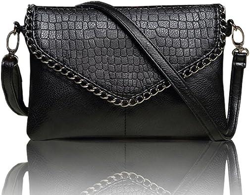 Womens Messenger Bags,Retro Rivets Leather Satchel Envelope Bag Book Handbag Shoulder Bags