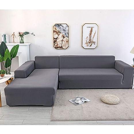 GOYOO Funda de Sofa Elástica Chaise Longue Brazo Largo ...