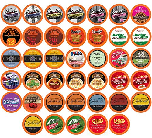 Two Rivers Fall Flavors Variety Pack Pods, Compatible with 2.0 Keurig K-Cup Brewers, 40 Count
