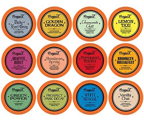 Prospect Tea Variety Pack Single-Cup Tea for Keurig K-Cup Brewers, 40 (Lemon Vanilla Tea)