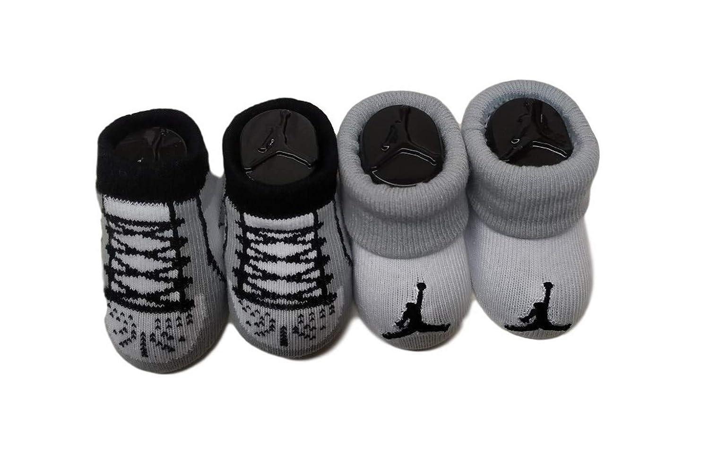 Nike 2 Pairs Booties Newborn Size 0-6 Months Boys Girls Footwear Shoes Black//White