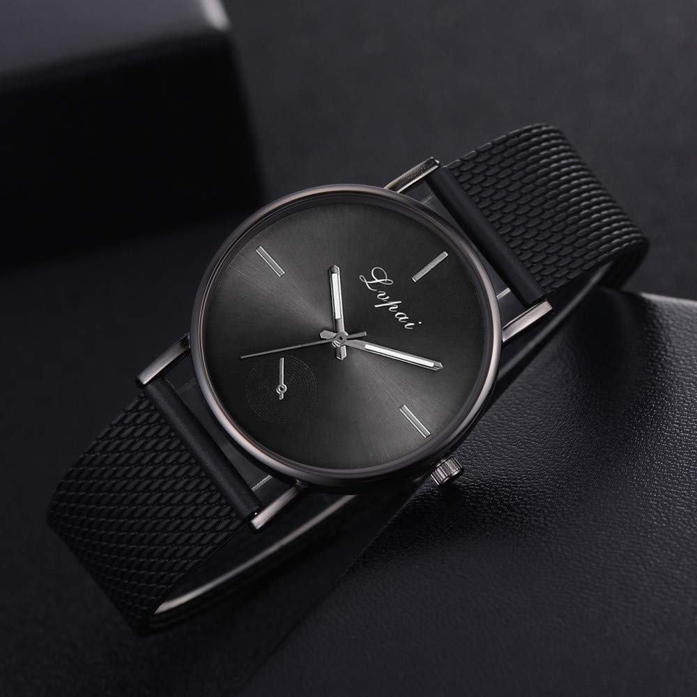 Amazon.com: Lvpai Womens Casual Quartz Silicone Strap Band Watch Analog Wrist Watch Black: Clothing