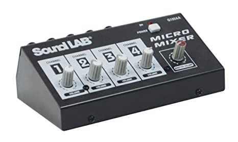 Mesa de Mezclas Mixer Console 4 Micro micrófono 4 Canales Mono ...