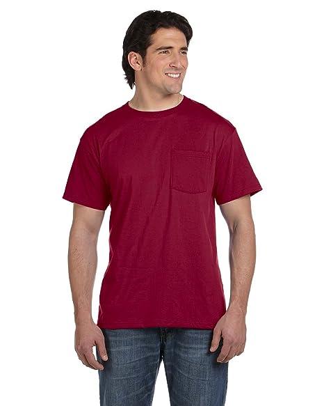 d42fb606 Fruit of the Loom Mens 5.6 oz, 50/50 Best Pocket T-Shirt (5930P ...