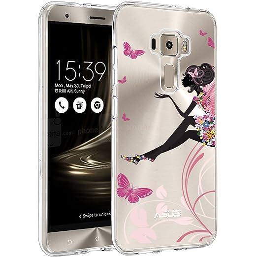 9 opinioni per Asus Zenfone 3 ZE520KL Custodia Cover, WenJie Ragazza Rosa Silicone Case TPU