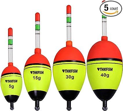 Fishing Slip Float Bobbers 5pcs//set Fishing Tackle Slide Fishing Floaters Kit