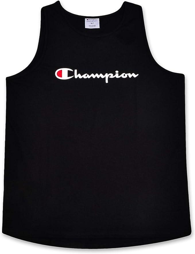 Champion Mens Big and Tall Swim Tank with Script Logo