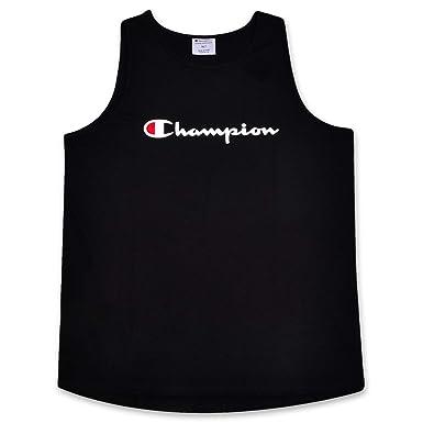 0c97d508f28c Champion Mens Big and Tall Swim Tank with Script Logo | Amazon.com