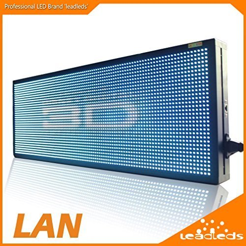 Leadleds 30'' x 11'' Full Color Video Display Screen Advertising LED Billboard, Support Video, Images, Text Fast Program By Ethernet Cable