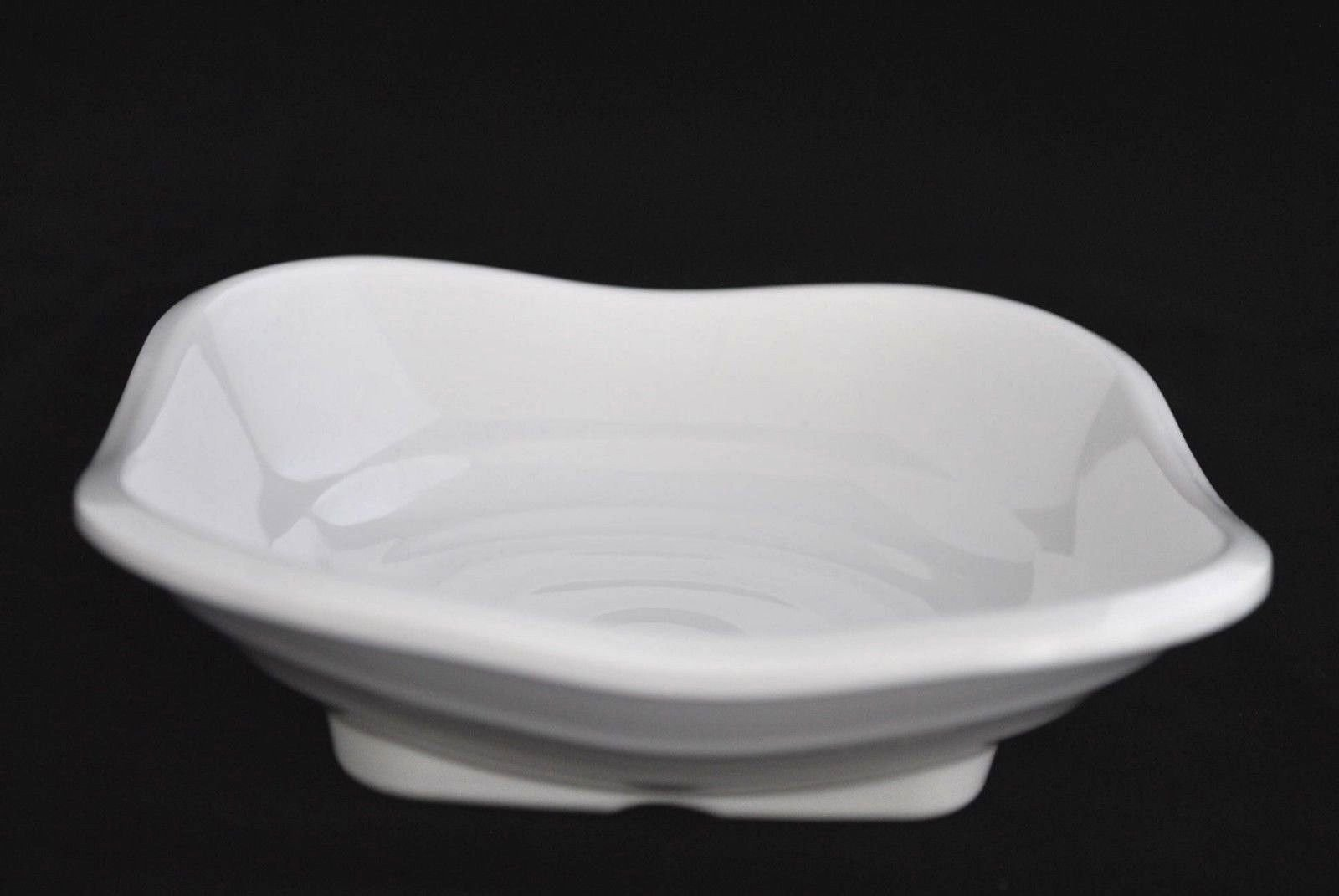 Lucky Star Melamine Square Spicy Soy Sauce Dishes Bowls Mustard Wasabi Sashimi Plastic Dipping Plates, 5.5'' X 5.5'' or 7.5'' X 7.5'', White (20, 7.5'' X 7.5'')