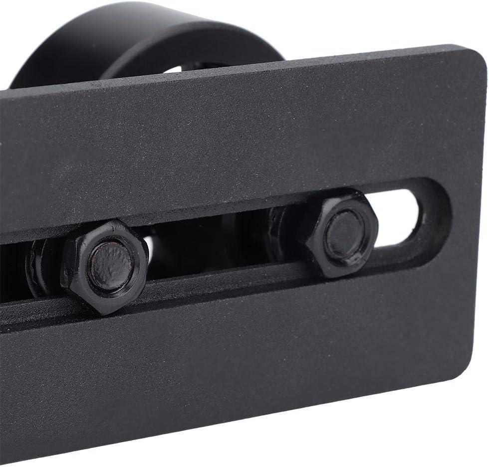 rodillo doble con rodillo peque/ño Gu/ía de Piso Ajustable para Puerta Corredera Gu/ía de Suelo Deslizante de Acero al Carbono para Puertas de Granero