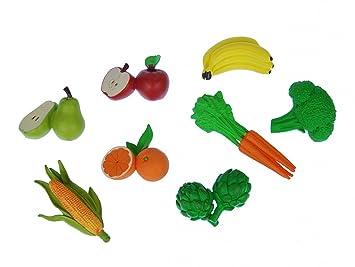 Miniblings Alimentos Goma Vegetal 7X Conjunto de Fruta Figura Jardín Vitaminas Alimentos