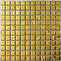 Mosaico de Vidrio en Malla DEC-47082ABC113 , Oro