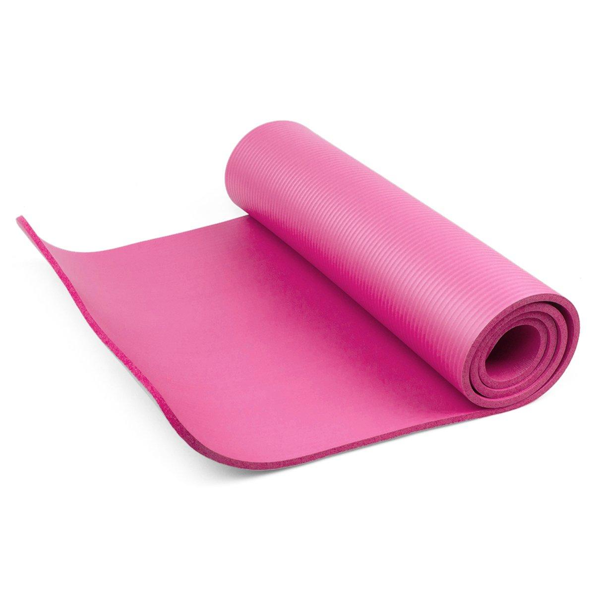 diMio - Esterilla de Yoga o Pilates, 185 x 60 cm, 5 Colores, 2 grosores, Antideslizante - Rosa - 185 x 60 x 1.5 cm