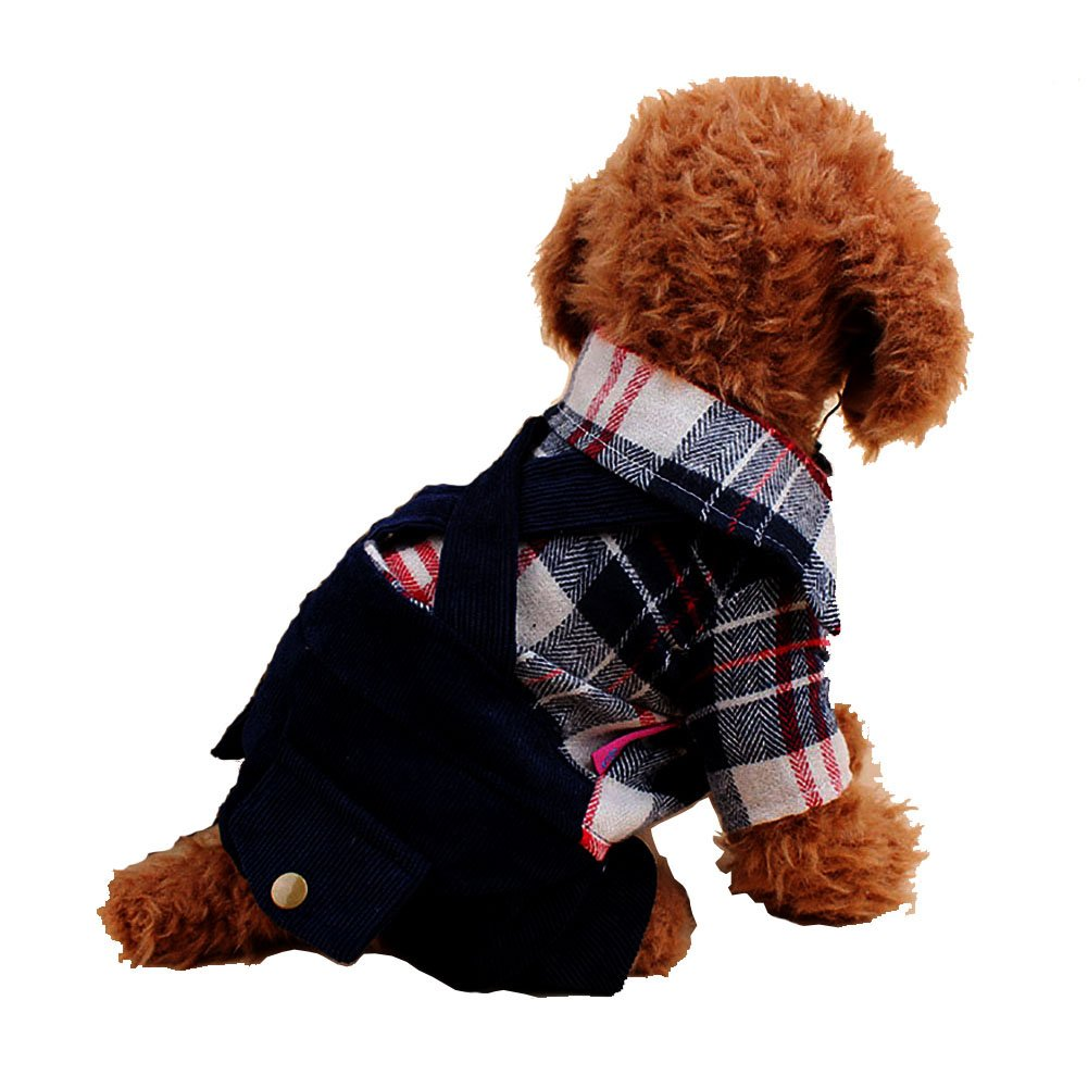 Funpets Dog Coat Jacket Pet Supplies Shirt for Small Dogs Clothes Spring Autumn Apparel Clothing Puppy (XL, Blue)