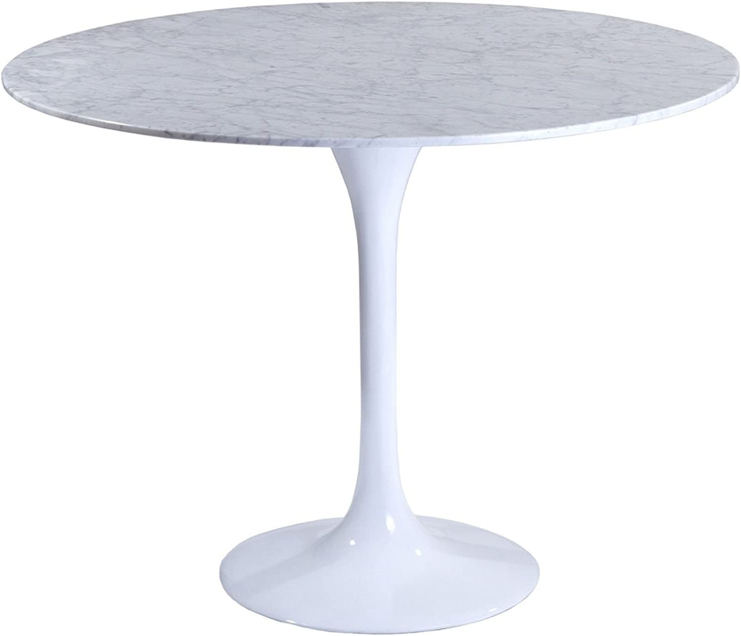 Modway Lippa 40 Marble Dining Table in White