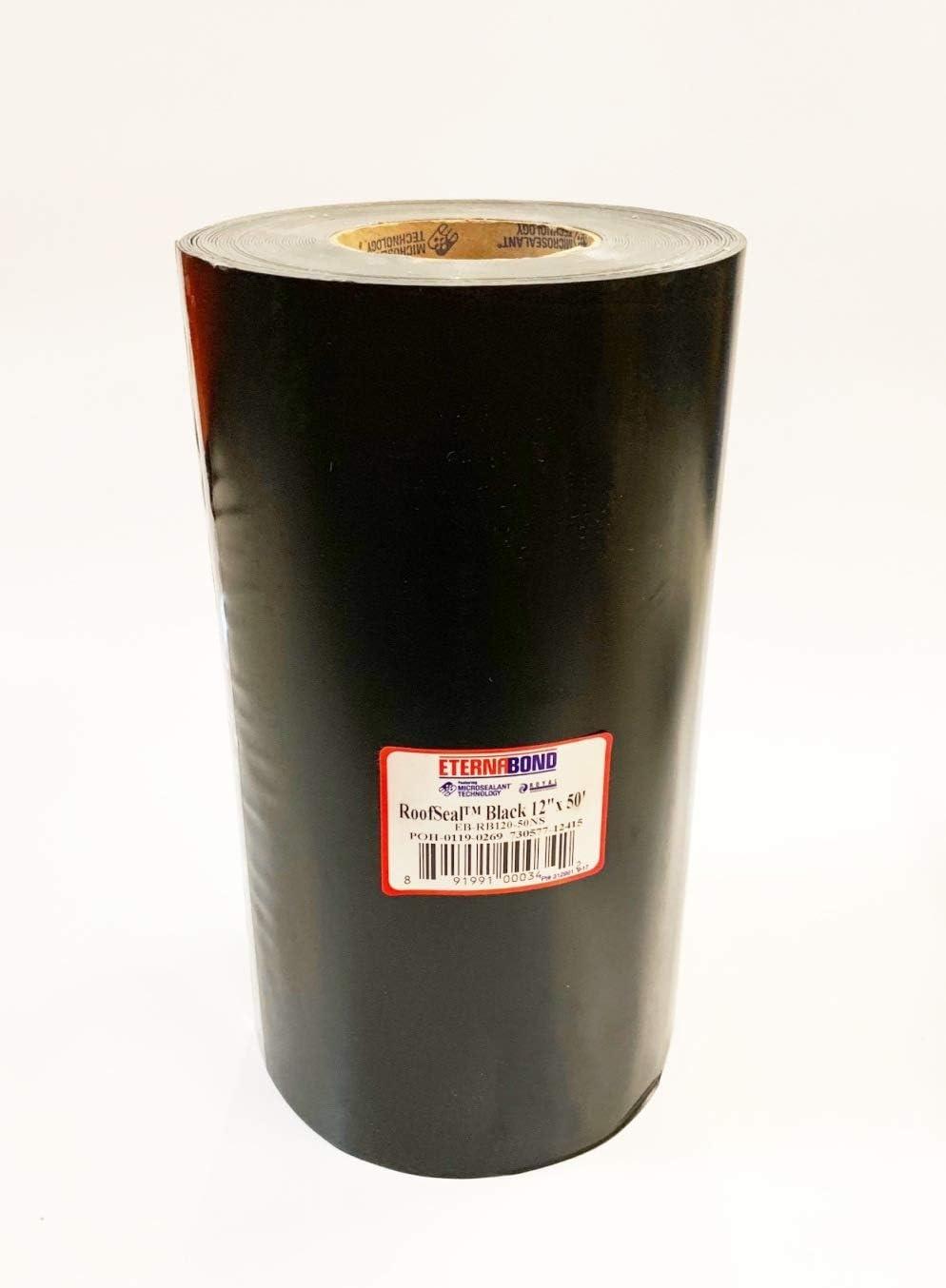 "EternaBond RSB-12-50 Mobile Home RV Rubber Roof Repair Tape Sealant - Black, 12"" x 50'"