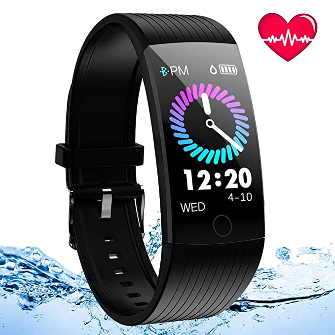 ANSGEC Fitness Tracker, Activity Tracker Watch with Heart Rate Monitor, Color Screen Smart Bracelet with Sleep Monitor,IP67 Waterproof Smart Bracelet for Android and iOS (B) best fitness tracker watches