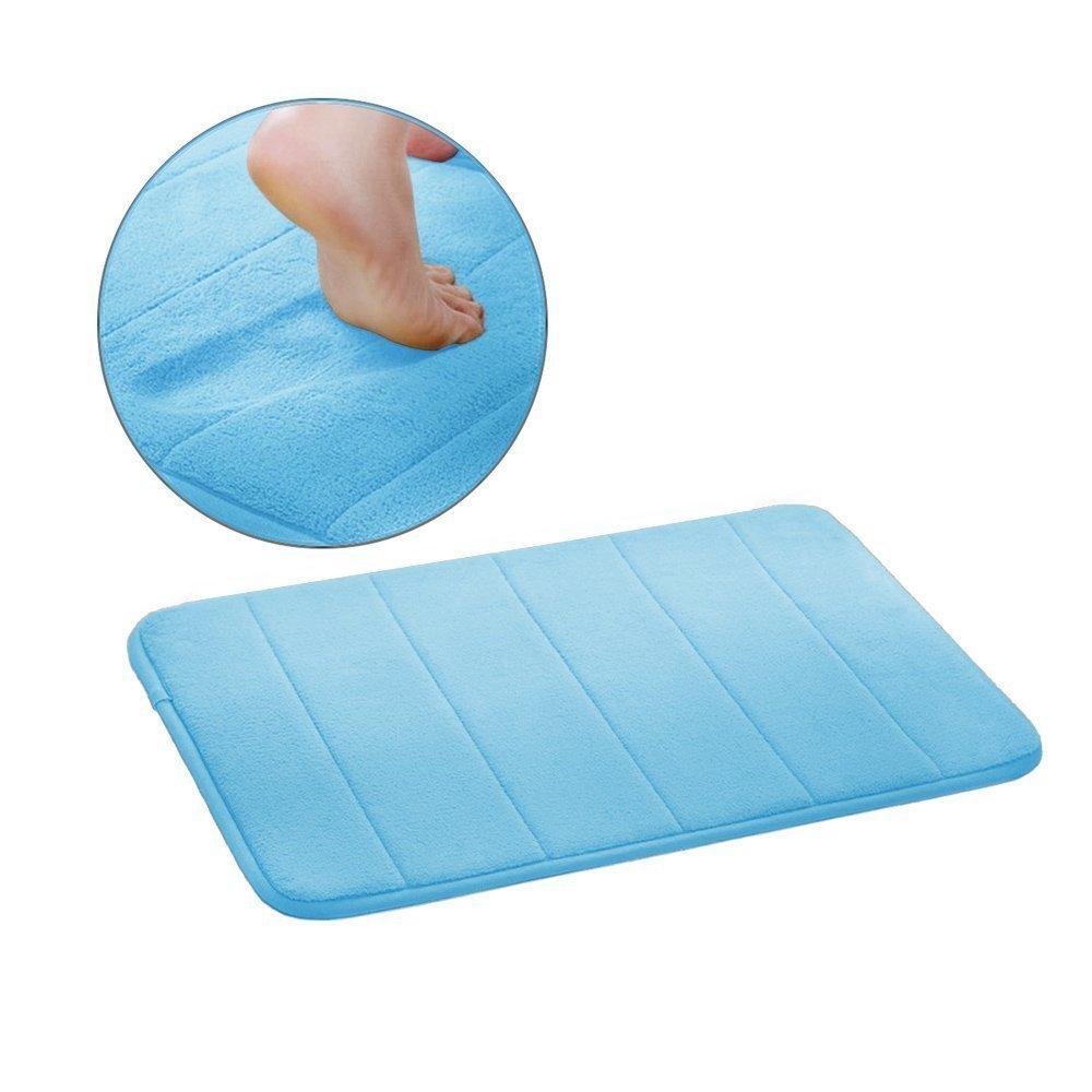 Nicebuty Drhob New Arrival morbido assorbente tappetino da bagno in memory foam con unico Drhob Pen, 50,8cm da 78,7cm, blu