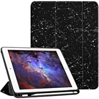 Fintie iPad 9.7 2018 (6th Gen) Case with Built-in Apple Pencil Holder - [SlimShell] Lightweight Soft TPU Back Protective Stand Cover with Auto Wake / Sleep for Apple iPad 9.7 inch Tablet (2018 Release), Constellation