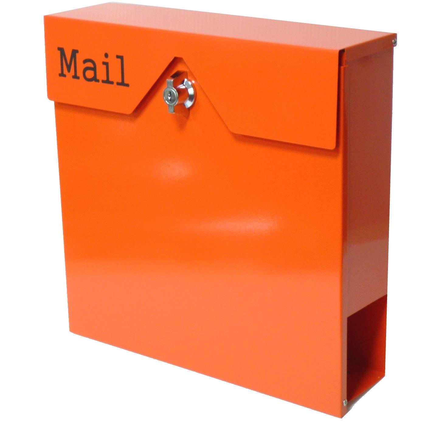 アイホーム(Ihome) 郵便ポスト pm15 pm152 大容量 オレンジ 奥行12×高さ37×幅37.5cm   B072BYR3LC
