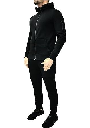 0a8c1911 Vanilla Inc® Mens Corduroy Hoodie Joggers Gym Suit Top Bottom Patch Panel  Cotton Full Zip