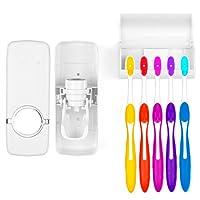 Dispenser de Creme Dental c/ Porta Escovas Branco