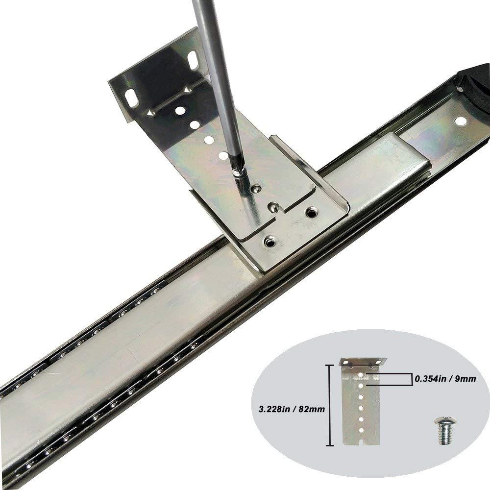 FRMSAET resistente 305//355//405//455 mm de espesor estructura de acero cojinete de bolas caj/ón del teclado bandeja deslizante bandeja gabinete muebles hardware riel 405 mm