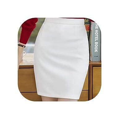 Falda Larga de Verano para Mujer, Color Blanco y Negro, Falda de ...