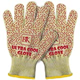 Ultra Cool Oven & Barbecue BBQ Grill Gloves - Set of 2 - Heat Resistant to 662 ºF - Silicone Grip