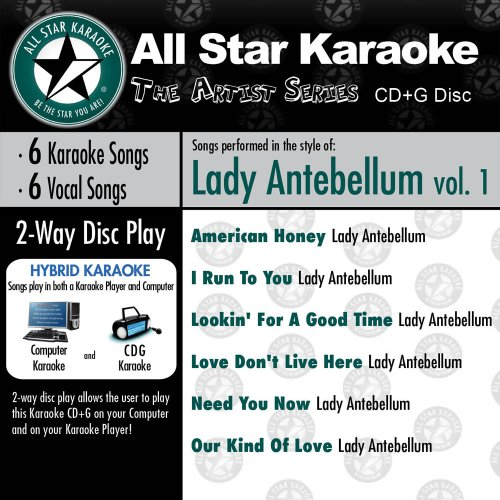 All Star Karaoke Vol. 1 (ASK-602) Top Hits of Karaoke Songs in the Style of the Artist Who Made Them Famous - including American Honey, I Run To You, Our Kind of Love and More