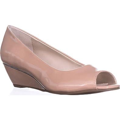 fba6dddea57 A35 Cammi Peep Toe Wedge Heels