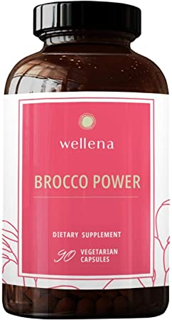 Broccoli Sulforaphane Glucosinolate SGS Supplement - Have More Energy, Recover Faster with Brocco Power Detox by Wellena, Contains Myrosinase Enzyme, Broccoli Seeds and Broccoli Sprouts Extract