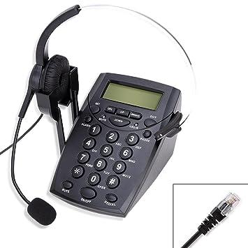 Amazon.com: Cheeta Call Center Telephone With Headset, Redail ...