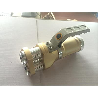 Éblouissement Lampe de poche 3 têtes Lumière portable Charge Tirs longs imperméables