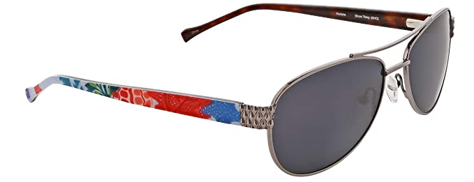 adca99a1c Image Unavailable. Image not available for. Color: Vera Bradley Women's Marlene  Polarized Aviator Sunglasses ...