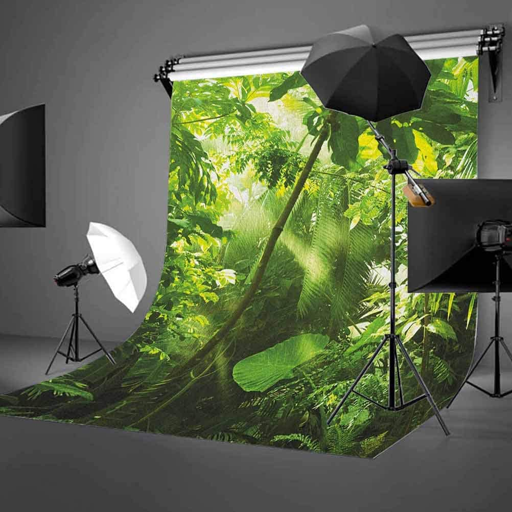 3x5 FT Plant Vinyl Photography Backdrop,Rain and Sun at Exotic Tropical Forest Jungle Undamaged Nature Brazil Rainforest Background for Baby Shower Bridal Wedding Studio Photography Pictures