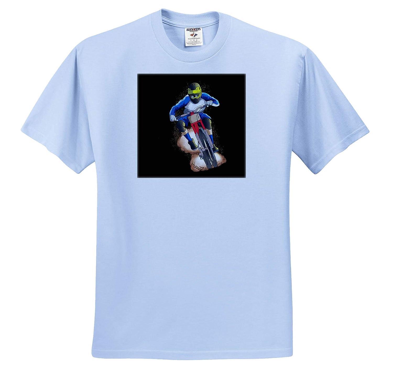 3dRose Sven Herkenrath Sport ts/_320110 Adult T-Shirt XL Mountainbike Biker Offroad BMX Sport Wheeler Extreme