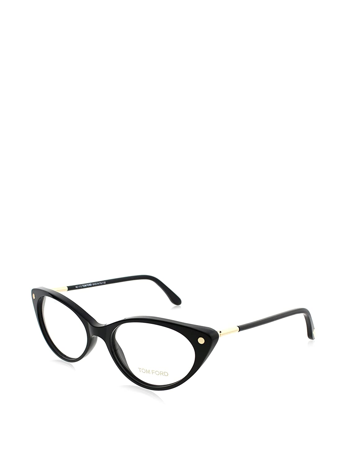 e6b217253d Amazon.com  Tom Ford Women s FT5189 001 Cat-Eye Eyeglass Frames ...