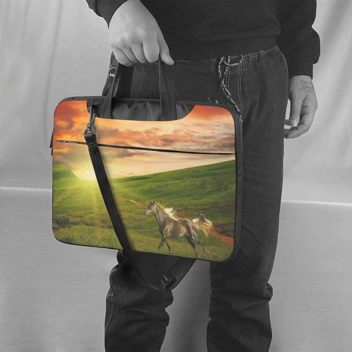 Laptop Bag 15.6 Inch Horse Ranch Fashion High Capacity Briefcases for Business and Travel