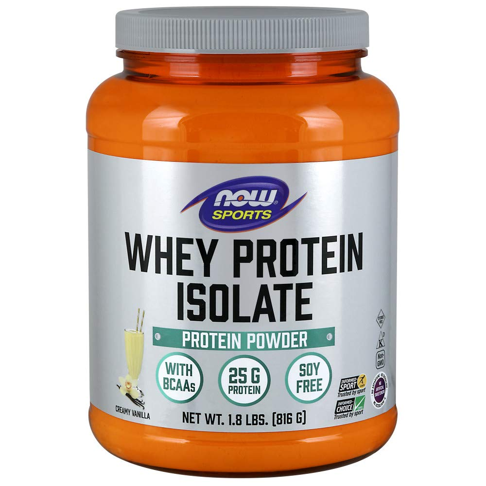 NOW Sports Nutrition, Whey Protein Isolate Powder, Creamy Vanilla, 1.8-Pound by Now Sports