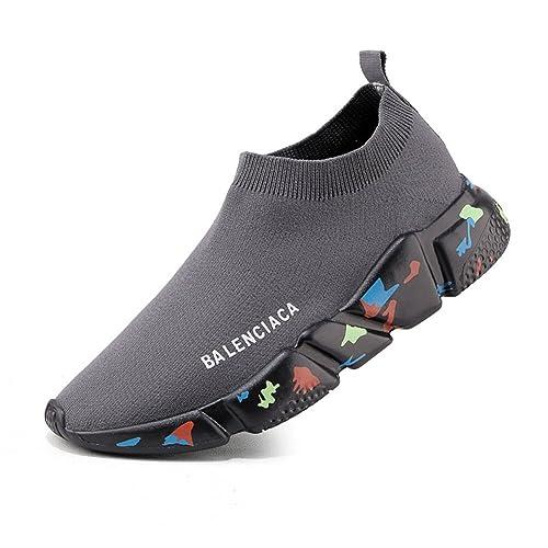 New Hombres/Mujeres Calcetines Elásticos Sneakers Primavera/Otoño Calcetines Elásticos de Punto Casual Amantes de Malla Cómodo Calcetines Zapatos EU Size: ...