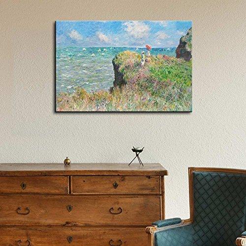 Claude Monet Cliff Walk at Pourville Impressionist Art